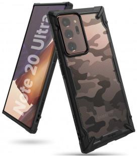 """Juodas (Camo) dėklas Samsung Galaxy Note 20 Ultra telefonui """"Ringke Fusion X"""""""