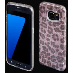 "Rožinis silikoninis blizgantis dėklas Samsung Galaxy S7 Edge G935F telefonui ""Blink Panther"""