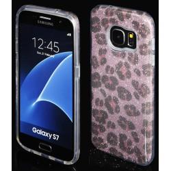 "Rožinis silikoninis blizgantis dėklas Samsung Galaxy S7 G930F telefonui ""Blink Panther"""