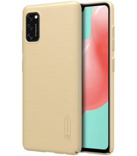 """Auksinės spalvos dėklas Samsung Galaxy A41 telefonui """"Nillkin Frosted Shield"""""""