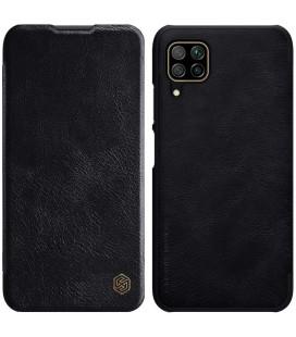 """Odinis juodas atverčiamas dėklas Huawei P40 Lite telefonui """"Nillkin Qin"""""""