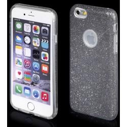 """Juodas silikoninis blizgantis dėklas Apple iPhone 6/6s telefonui """"Blink"""""""