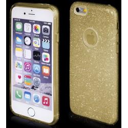 """Auksinės spalvos silikoninis blizgantis dėklas Apple iPhone 6/6s telefonui """"Blink"""""""