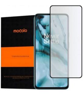 """Juodas apsauginis grūdintas stiklas Oneplus Nord telefonui """"Mocolo TG Full Glue"""""""