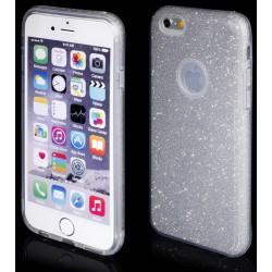 """Sidabrinės spalvos silikoninis blizgantis dėklas Apple iPhone 6/6s telefonui """"Blink"""""""