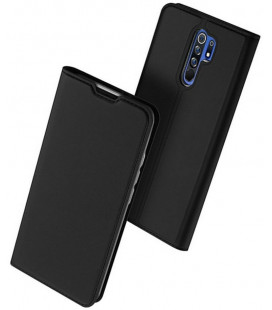 """Juodas atverčiamas dėklas Xiaomi Redmi 9 telefonui """"Dux Ducis Skin Pro"""""""
