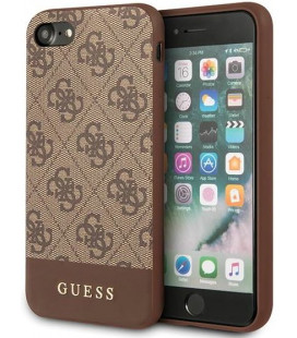 "Rudas dėklas Apple iPhone 7/8/SE 2020 telefonui ""GUHCI8G4GLBR Guess 4G Stripe Cover"""