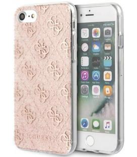 "Rožinis dėklas Apple iPhone 8/SE 2020 telefonui ""GUHCI8PCU4GLPI Guess Glitter 4G Peony Cover"""