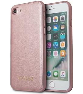 """Rausvai auksinės spalvos dėklas Apple iPhone 7/8/SE 2020 telefonui """"GUHCI8IGLRG Guess IriDescent TPU Cover"""""""