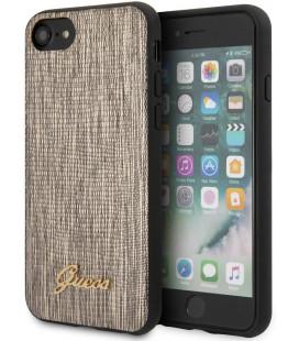 """Auksinės spalvos dėklas Apple iPhone 8/SE 2020 telefonui """"GUHCI8PCUMLLIGO Guess Lizard Cover"""""""
