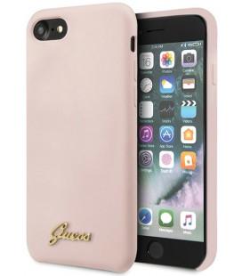 "Rožinis dėklas Apple iPhone 8/SE 2020 telefonui ""GUHCI8LSLMGLP Guess Retro Silicone Cover"""