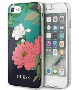 "Juodas dėklas Apple iPhone 8/SE 2020 telefonui ""GUHCI8PCUTRFL01 Guess Flower Edt. N.1 Cover"""