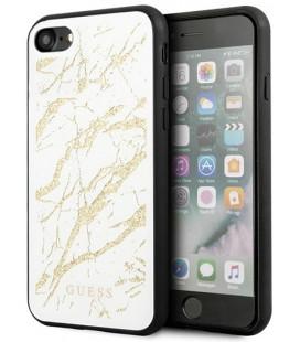 "Baltas dėklas Apple iPhone 8/SE 2020 telefonui ""GUHCI8MGGWH Guess Glitter Marble Cover"""