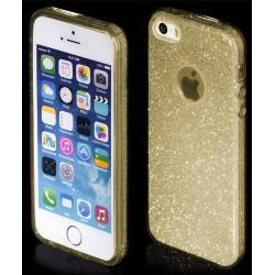 """Auksinės spalvos silikoninis blizgantis dėklas Apple iPhone 5/5s/SE telefonui """"Blink"""""""