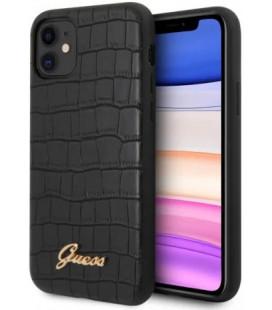 """Juodas dėklas Apple iPhone 11 telefonui """"GUHCN61PCUMLCRBK Guess Croco Cover"""""""