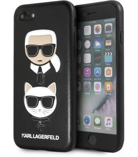 "Juodas dėklas Apple iPhone 7/8/SE 2020 telefonui ""KLHCI8KICKC Karl Lagerfeld and Choupette Cover"""