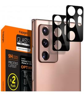 "Apsauginis grūdintas stiklas Samsung Galaxy Note 20 Ultra telefono kamerai apsaugoti ""Spigen Optik.TR Camera Lens"""