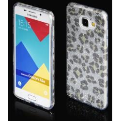 """Sidabrinės spalvos silikoninis blizgantis dėklas Samsung Galaxy A5 2016 telefonui """"Blink Panther"""""""