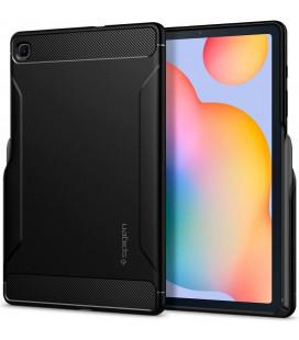 """Juodas dėklas Smasung Galaxy TAB S6 Lite 10.4 P610/P615 planšetei """"Spigen Rugged Armor"""""""