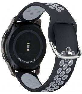"""Juoda/pilka apyrankė Samsung Galaxy Watch 3 45mm laikrodžiui """"Tech-Protect Softband"""""""