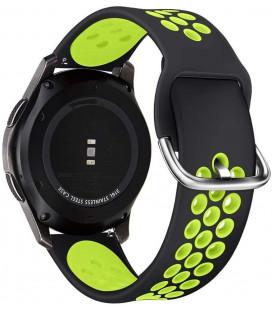 """Juoda/žalia apyrankė Samsung Galaxy Watch 3 45mm laikrodžiui """"Tech-Protect Softband"""""""