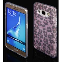 "Rožinis silikoninis blizgantis dėklas Samsung Galaxy J5 2016 J510F telefonui ""Blink Panther"""