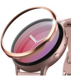 """Rausvai auksinės spalvos apsauginis rėmelis Samsung Galaxy Watch Active 2 (44mm) laikrodžiui """"Ringke Bezel Styling"""""""