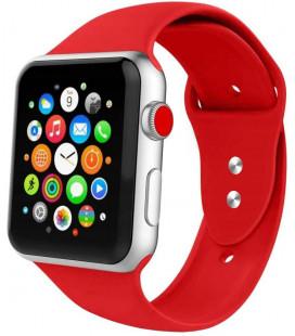 """Raudona apyrankė Apple Watch 4 / 5 / 6 / 7 / SE (42 / 44 / 45 mm) laikrodžiui """"Tech-Protect Iconband"""""""
