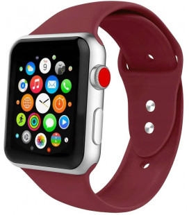 """Bordo spalvos apyrankė Apple Watch 1/2/3/4/5/6 (42mm/44mm) laikrodžiui """"Tech-Protect Iconband"""""""