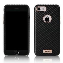 """Juodas dėklas Apple iPhone 7 telefonui """"Remax Carbon"""""""