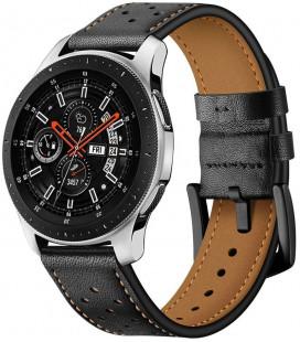 """Juoda apyrankė Samsung Galaxy Watch 3 45mm laikrodžiui """"Tech-Protect Leather"""""""