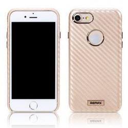 """Auksinės spalvos dėklas Apple iPhone 7 telefonui """"Remax Carbon"""""""