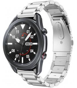 """Sidabrinės spalvos apyrankė Samsung Galaxy Watch 3 41mm laikrodžiui """"Tech-Protect Stainless"""""""