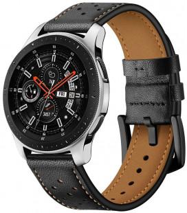 """Juoda apyrankė Samsung Galaxy Watch 3 41mm laikrodžiui """"Tech-Protect Leather"""""""