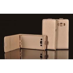 """Auksinės spalvos atverčiamas dėklas Samsung Galaxy S5 G900F telefonui """"Telone Vertical POCKET"""""""