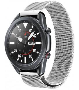 """Sidabrinės spalvos apyrankė Samsung Galaxy Watch 3 41mm laikrodžiui """"Tech-Protect Milaneseband"""""""