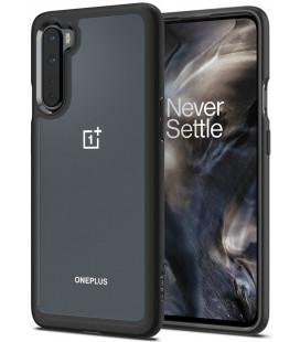 """Juodas dėklas Oneplus Nord telefonui """"Spigen Ultra Hybrid"""""""
