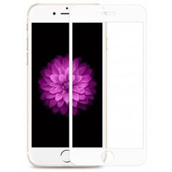 Lenktas baltas apsauginis grūdintas stiklas Apple iPhone 7 Plus telefonui