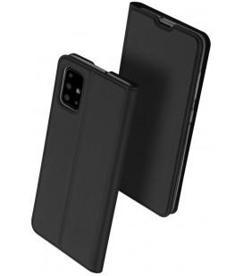 """Juodas atverčiamas dėklas Samsung Galaxy M31S telefonui """"Dux Ducis Skin Pro"""""""