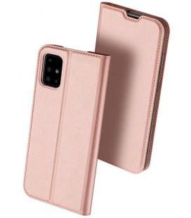 """Rausvai auksinės spalvos atverčiamas dėklas Samsung Galaxy M31S telefonui """"Dux Ducis Skin Pro"""""""