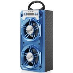 """Bluetooth nešiojama garso kolonėlė """"MS-214BT Blue"""""""