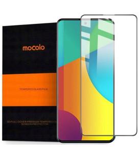 """Juodas apsauginis grūdintas stiklas Samsung Galaxy M31S telefonui """"Mocolo TG Full Glue"""""""