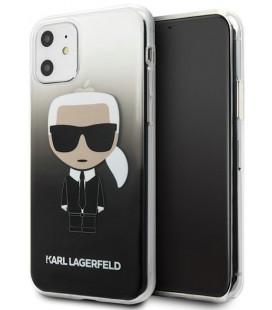 "Juodas dėklas Apple iPhone 11 telefonui ""KLHCN61TRDFKBK Karl Lagerfeld Ikonik Cover"""
