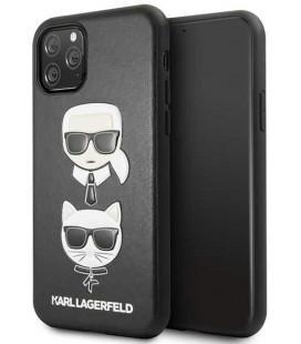 "Juodas dėklas Apple iPhone 11 Pro Max telefonui ""KLHCN65KICKC Karl Lagerfeld & Choupette Cover"""