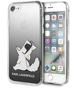 "Juodas dėklas Apple iPhone 8/SE 2020 telefonui ""KLHCI8CFNRCBK Karl Lagerfeld Fun Sunglasses Cover"""