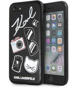 "Juodas dėklas Apple iPhone 7/8/SE 2020 telefonui ""KLHCI8CFNRCBK Karl Lagerfeld Fun Sunglasses Cover"""