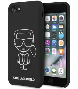 "Juodas dėklas Apple iPhone 8/SE 2020 telefonui ""KLHCI8SILFLWBK Karl Lagerfeld Silicone Cover Ikonic"""