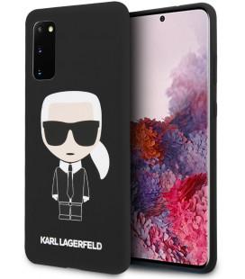 "Juodas dėklas Samsung Galaxy S20 telefonui ""KLHCS62SLFKBK Karl Lagerfeld Full Body Cover"""