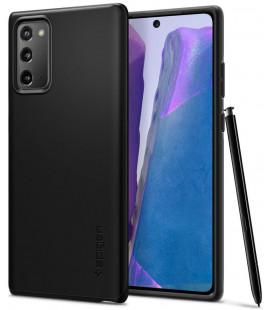 "Juodas dėklas Samsung Galaxy Note 20 telefonui ""Spigen Thin Fit"""