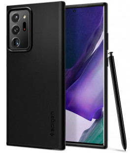 "Juodas dėklas Samsung Galaxy Note 20 Ultra telefonui ""Spigen Thin Fit"""